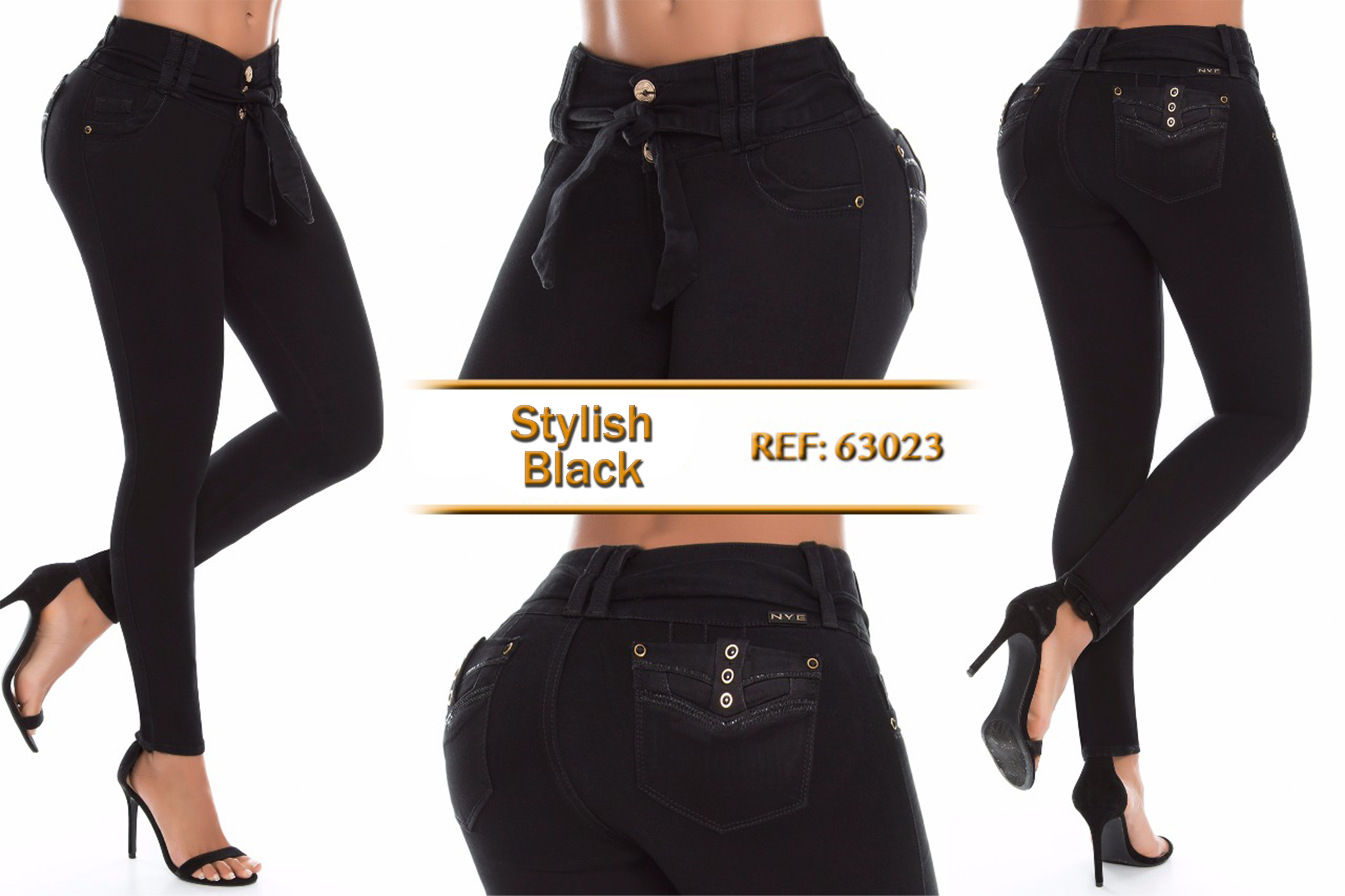 Mid/high Waisted Butt Lifting Cropped Jeans Ref: 63023