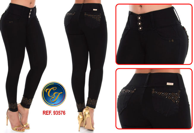 Mid/high Waisted Butt Lifting Cropped Jeans Ref: 93576