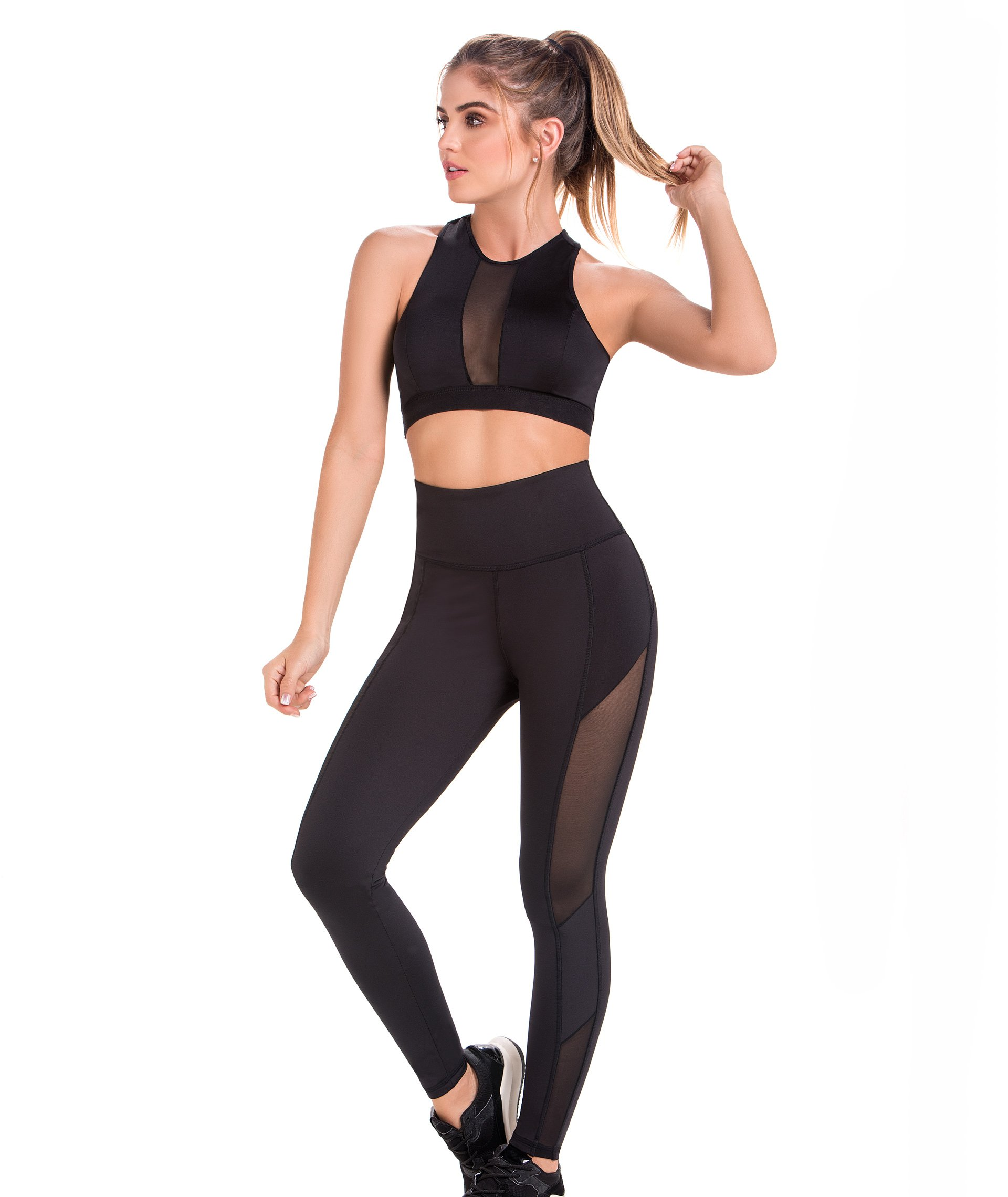 Sport Shaper Leggings with Transparencies and Buttock Enhancement Ref DL101