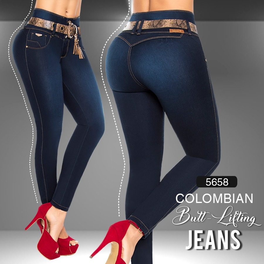 Mid/High Waisted Butt Lifting Jeans Ref: 5658