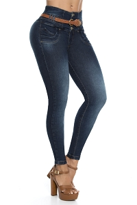 Mid/High Waisted Butt lifting Jeans Ref: 5644