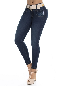 Mid/High Waisted Butt Lifting Jeans Ref 5665