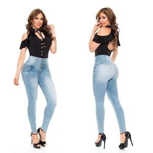 High Waisted Butt Lifting Jeans Ref: 5720