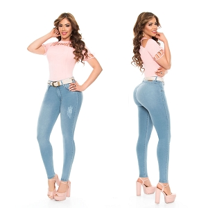 High Waisted Butt Lifting Jeans Ref: 5722