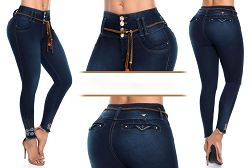 High Waisted Butt lifting Cropped Jeans Ref: 63251