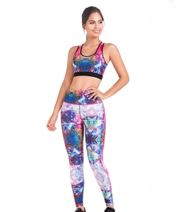 Moldering Leggings Printed With Compression and Buttock Enhancement Ref  DL104