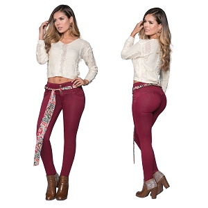 Mid/High Waisted Jeans - Butt Lifting Jeans Ref: 2106B