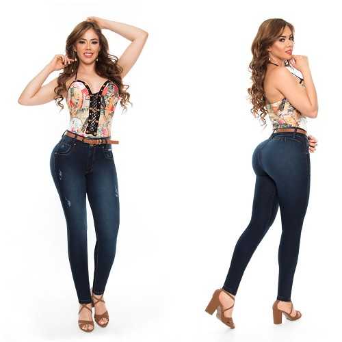High Waisted Butt Lifting Jeans Ref 5723